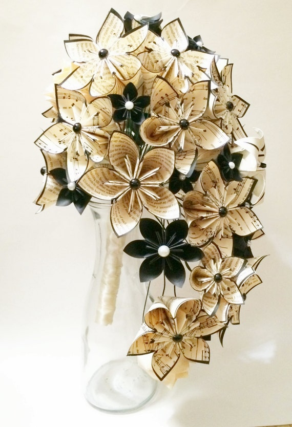 Cascading Bouquet Paper Bouquet one of a kind origami