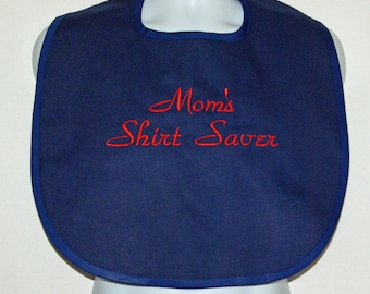 Funny Adult Bib, Shirt Saver, Mom, Dad, Friend, Boss, Gag Gift, Personalize With Name, Custom Birthday Grandparent Gift, Ships TODAY 1136