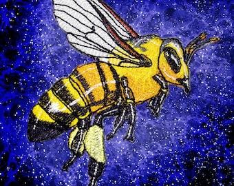Epic Honey Bee Worker Apis mellifera  Iron on Patch