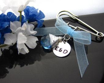 Something old, something blue charm, Bouquet charm, zipper charm, Crystal Briolette, cute charm, bag charm, personalized charm