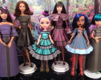 Julia Printable Steampunk Doll Clothes - Fits Barbie, Monster High, Ever After High and more!