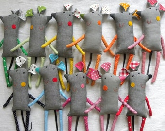 mouse softie solid grey M i s h
