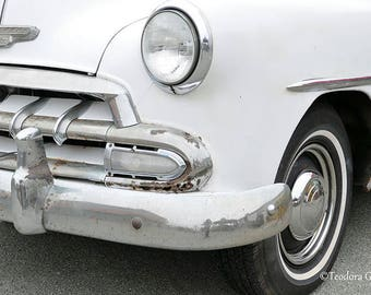 Digital Download  of a Vintage White Chevrolet Photography Print