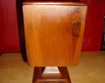 Vintage Square Wood Shape Pedestal Planter Stand,Candy Dish