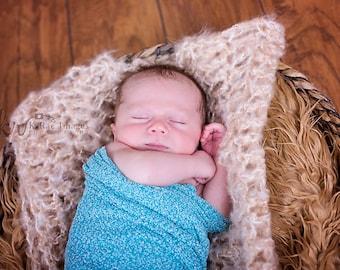 Basket Liner   Newborn Posing Blanket   Newborn Mohair Blanket   Chunky Mini Blanket  