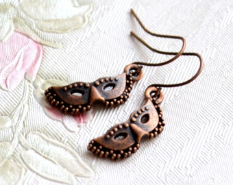 Venetian mask earrings 50 shades Jewelry Face Mask earrings Masquerade earrings Beaded Jewelry Gift for her Dangle earrings Gift under 10