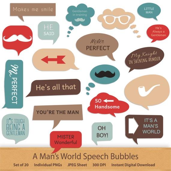 Speech Bubble Clipart Digital Word Art Digital Scrapbook Graphics