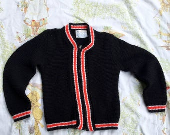 "Children's 1950s Penney's ""Sayelle"" Sweater Made From 100% Orlon Acrylic"