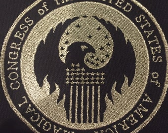 Fantastic Beasts USA Magical Congress Logo Iron On Patch -Triple Special!