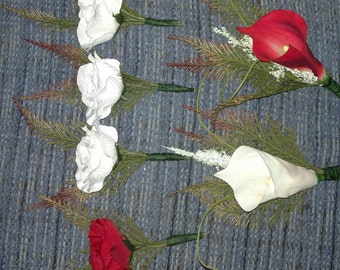 Boutonnieres, mothers and fathers flowers