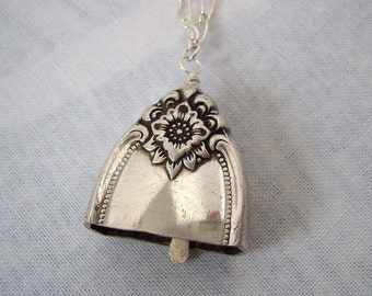 Fairy Bell Silver Knife Flatware Necklace