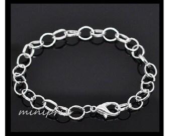 1 X bracelet / silver metal chain