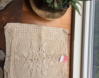 Vintage Crocheted Mat or Pillow Case