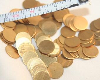 20 brass disks