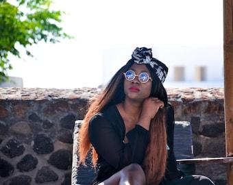 Zauna Head Wrap, Turban, Head Band, Scarf, Ankara Fabric, West African Print, Hair Accessory
