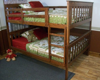 Full over Full Bunk Bed - Free Shipping