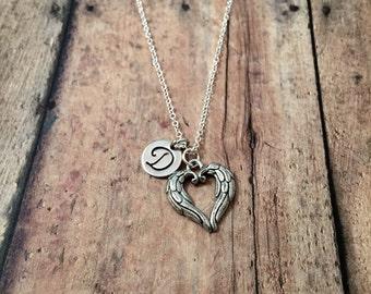 Heart angel wing necklace - angel wing jewelry, heart wing necklace, silver angel wing necklace, wing jewelry, angel heart wing jewelry
