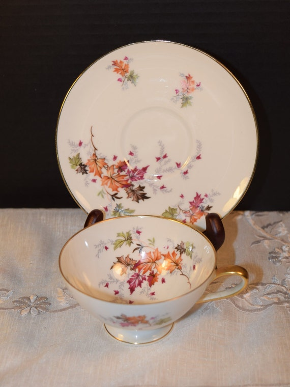 Chalfonte Indian Summer Coffee Cup & Saucer Vintage Saladmaster Bavaria Coffee Cup Saucer Discontinued China Replacement Gift for Her