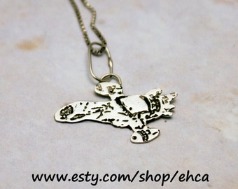 A Firefly Named Serenity Handmade Etched Necklace