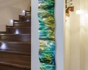 Modern Wall Art Abstract Metal Sculpture - Rainforest Wave by Jon Allen