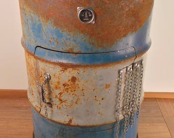 Barrel Bar - Rusty Blue  and White