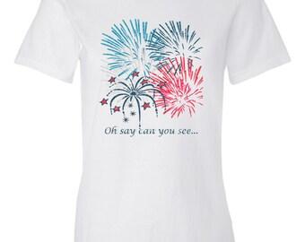 4th of July Shirt Women's