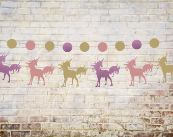 Unicorn banner, unicorn garland, unicorn party, unicorn decorations, banner, birthday banner, baby shower banner, baby shower garland