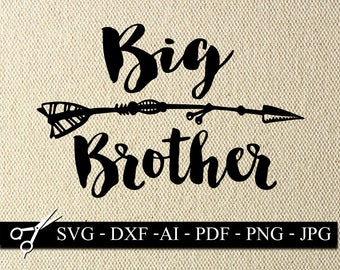 Big Brother SVG,DXF Cut File, Brother SVG, Siblings Svg Cutting File, Brother Vector Clipart, Big Brother t-shirt svg, Tribal svg,