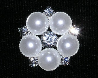 """Style # 15362 Pearl Daisy Button - 15/16"""""""