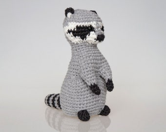 Raccoon Amigurumi Pattern, Raccoon Crochet Pattern, home decor, toy pattern, crochet art, crochet sculpture, easy crochet, racoon, raccon