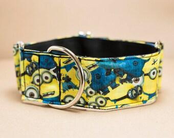 "Greyhound - Many Minions 1.5"" Martingale Collar"
