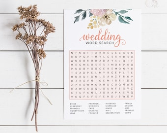 Floral Bridal Shower Word Search