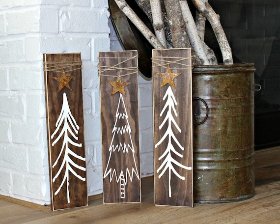 Rustic Christmas Tree Signs Rustic Christmas Decor