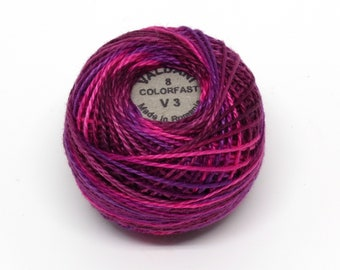 Valdani Pearl Cotton Thread Size 8 Variegated: #V3 Fuchsia Love