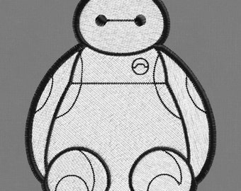 Baymax Hero 3 sizes embroidery design pes hus jef dst