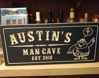 Personalized Man Cave Signs Etsy : Custom bar sign etsy