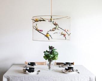 Copper birdcage pendant light chandelier large copper birdcage pendant light chandelier aloadofball Image collections