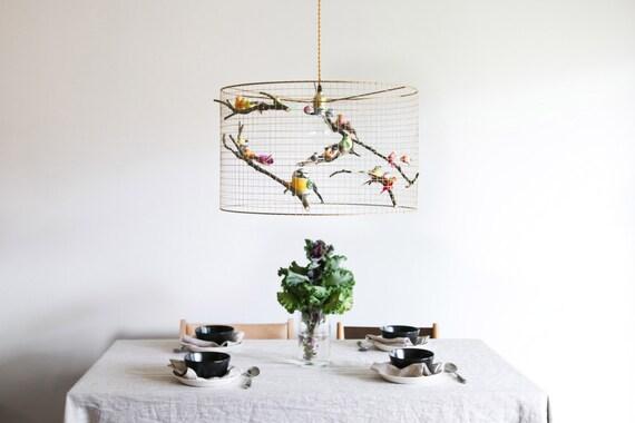 Large copper birdcage pendant light chandelier aloadofball Image collections