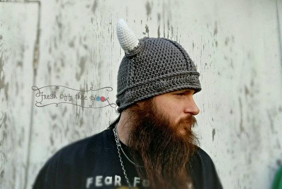 Häkeln Sie Wikinger-Helm Mütze Hut Neugeborenen Adult