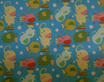Elephants Westminster circus print fabric by the yard clearance sale