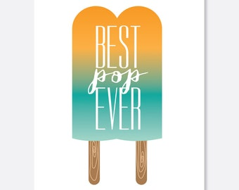 Father's Day Card:  Funny Best Pop Ever- Etsy