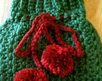 Dogs, Sweaters, Dog Sweaters, Dog Clothing, Dog Fashions, Hand-crocheted sweater, Pets, Pet Fashions, Green, Yed