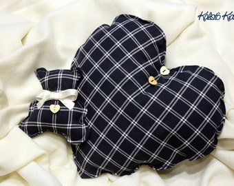 Pillow Heart and Teddy bear