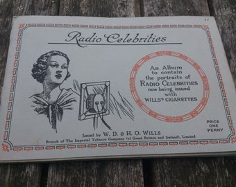 Wills cigarette cards 1930s-Radio stars