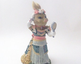 The Victorian Collection - Catherine Cottontail -1994 - Resin Bunny Rabbit - CLEARANCE SALE
