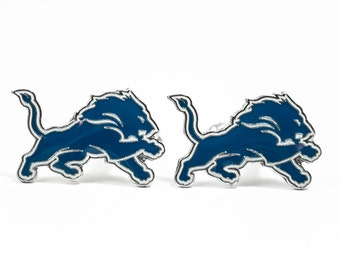 Detroit Lions Cuff Links -- FREE SHIPPING with USPS First Class Domestic Mail