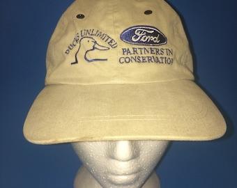 Vintage Ducks Unlimited Ford Strapback Hat Adjustable 1990s