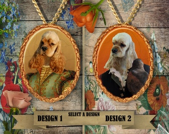 American Cocker Spaniel Jewelry Cocker Spaniel Pendant Cocker Dog Jewelry Cocker Spaniel Brooch Custom Dog Porcelain Jewelry Nobility Dogs