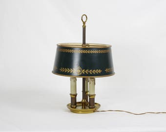 Toleware lamp shade etsy bouillotte lamp french vintage bouillotte lamp french desk lamp metal aloadofball Images