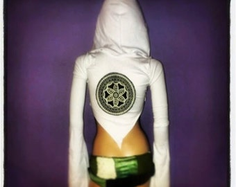 Hooded Mandala Shrug // ORGANIC COTTON